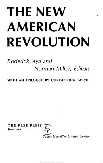 THE NEW AMERICAN REVOLUTION - Freedom Archives