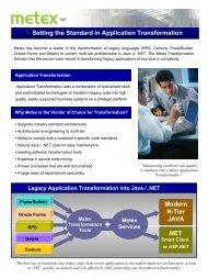 Setting the Standard in Application Transformation .NET Modern N ...