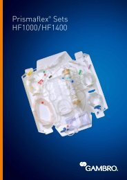 Prismaflex® Sets HF1000/HF1400 - Gambro
