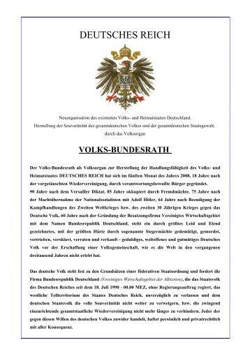 deutsches reich - Freiheit ist selbst bestimmtes Leben ohne Angst
