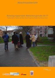 Beteiligungsprojekt Mattenbergstraße 55-77 - Frauentreff Brückenhof
