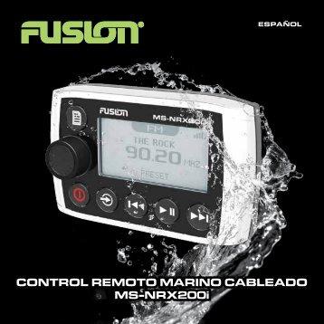 CoNTRol ReMoTo MaRINo CaBleaDo Ms-NRX200i - Fusion