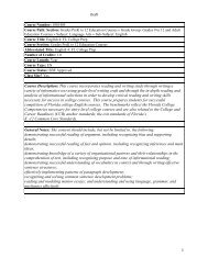Course Description: This course incorporates reading and writing ...