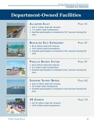 Department-Owned Facilities ALLIGATOR ALLEY - Florida's Turnpike