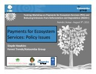 Payments for Ecosystem Services: Policy Issues ... - Forest Trends