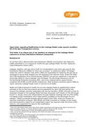 10 December 2012 Open letter re Modification to the Leakage Model