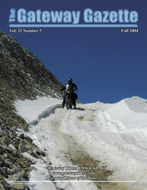 fall gazette 2004 - Gateway Riders Index