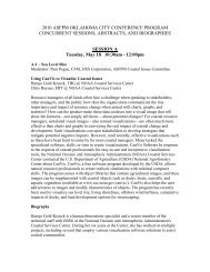 Abstracts & Biographies - The Association of State Floodplain ...