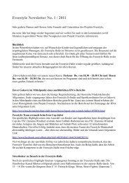 Freestyle Newsletter No. 1 / 2011