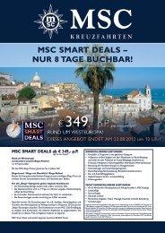 MSC SMART DEALS – NUR 8 TAGE BUCHBAR! - TUI ReiseCenter