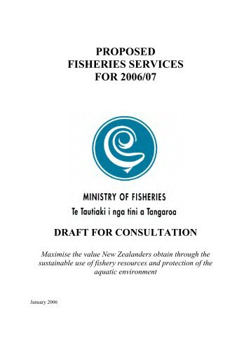 PROPOSED FISHERIES SERVICES FOR 2006/07 - Ministry of ...