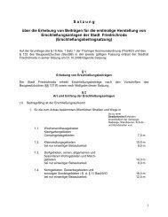 Erschließungsbeitragssatzung - Friedrichroda