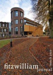 journal - Fitzwilliam College - University of Cambridge