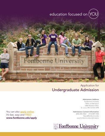 Undergraduate Admission - Fontbonne University
