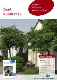 Dorf-Rundschau Mai - Juni - Juli 2013 - Theodor Fliedner Stiftung