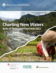 Charting New Waters: State of Watershed Payments - Forest Trends