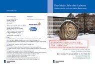 Das letzte Jahr des Lebens - Fortbildung - UniversitätsSpital Zürich