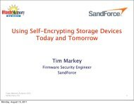 Using Self-Encrypting Storage Devices Today and Tomorrow - LSI