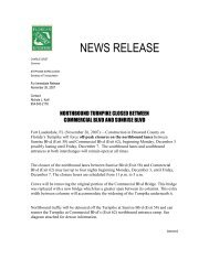 NEWS RELEASE - Florida's Turnpike