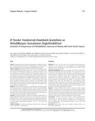 El Tendon Yaralanmal› Hastalarda ‹yontoforez ve ... - FTR Dergisi