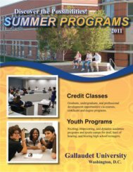 2011 Summer Catalog - Gallaudet University