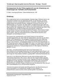 Konsequenzen für den Fütterungsbereich aus der ... - SVT Tagung