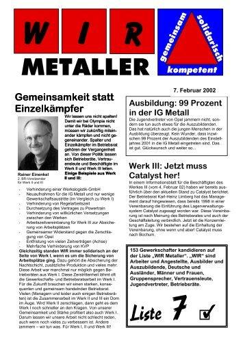 Infoblatt Februar 2002 - Mein Bochum