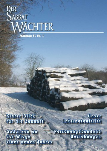 Jahrgang 81 Nr. 1 - Reformierte Siebenten-Tags-Adventisten in ...