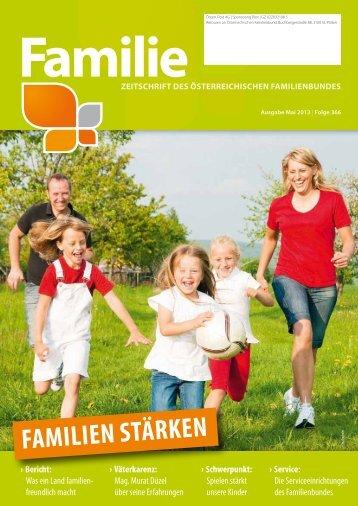 Zeitschrift Familie, Ausgabe Mai 2013 [PDF 4 MB] - Familienbund