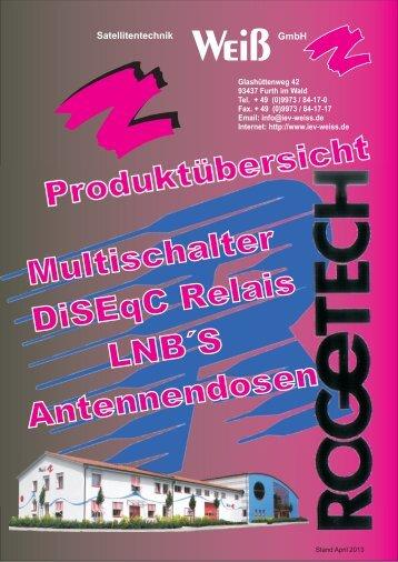 Gesamtkatalog 2013 >> Download - Rogetech.de