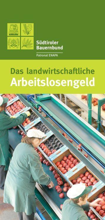 Arbeitslosengeld - Südtiroler Bauernbund