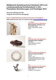 Wettbewerb Gestaltung Kunst Handwerk 2012 und ...