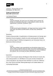 Manuskript - WDR 5