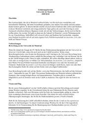 1 Erfahrungsbericht Université de Montréal 2009/2010 Überblick ...