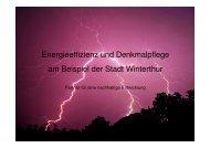 Energieeffizienz und Denkmalpflege am Beispiel der ... - energieapero