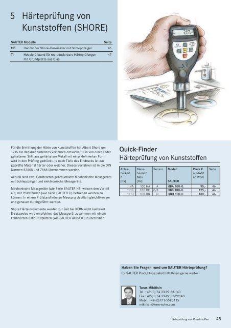 Sauter TI-D Hebelpr/üfstand