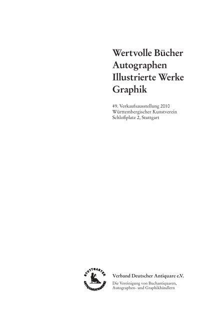Wertvolle Bücher Autographen Illustrierte Werke Graphik