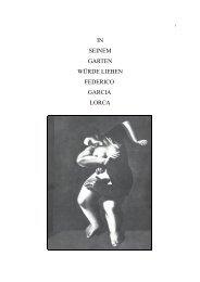 Abschlussarbeit Federico Garcia Lorca - Athanor Akademie