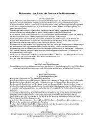 Abkommen zum Schutz der Seehunde im Wattenmeer