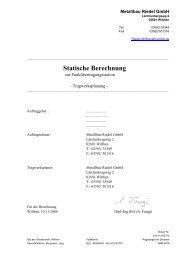 Statische Berechnung - Metallbau Riedel GmbH