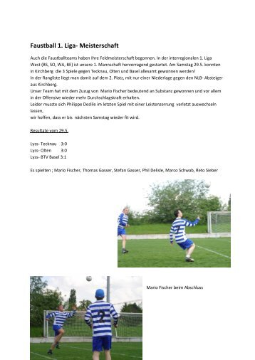 Faustball 1. Liga- Meisterschaft - TV Lyss