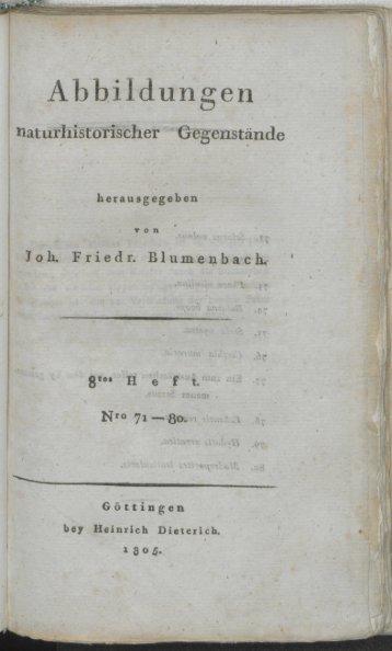 Abbildungen - Blumenbach-Online