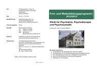 Fort - Kommunalunternehmen Kliniken und Heime des Bezirks ...