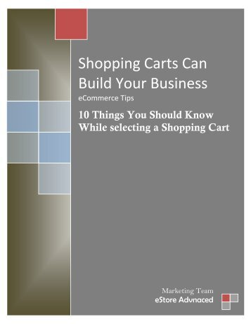 Shopping Carts Can Build Your Business - eStore Advanced