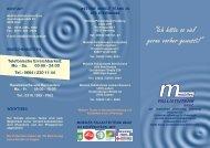 Folder des Mobilen Palliativ-Teams - Onkologie Graz