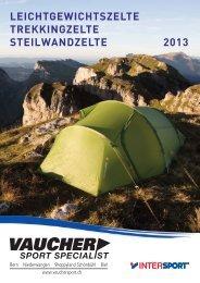 Weitere Zelte aus unserem Sortiment im ... - Vaucher Sport