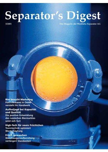 Separator's Digest 2001/3 - GEA Niro Soavi