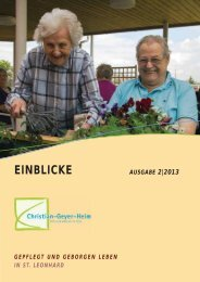 EINBLICKE - Senioren-Stadtmission