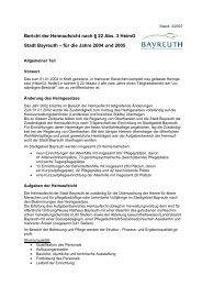 Berichte der Heimaufsicht nach § 22 Abs - Stadt Bayreuth
