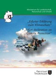 Erfurter Erklärung zum Klimaschutz - Thüringer Landesanstalt für ...